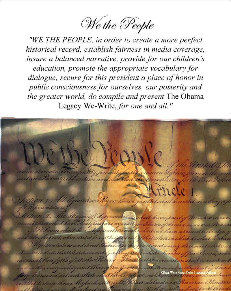 page 1 of the Obama Legacy We Write